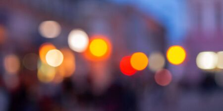 street background blur. city abstraction with bokeh effect Stock Photo - 137493714
