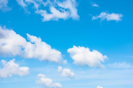 gorgeous cloudscape in springtime. weather background with dynamic cloud arrangement on a blue sky. sunny and windy day, good weather forecast concept Reklamní fotografie
