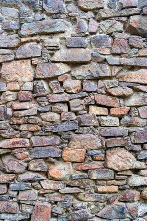 stone wall texture. example of ancient masonry
