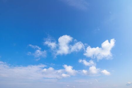 sunning cloudscape on a summer day. beautiful sunny weather forecast. dynamic cloud formation on the blue sky