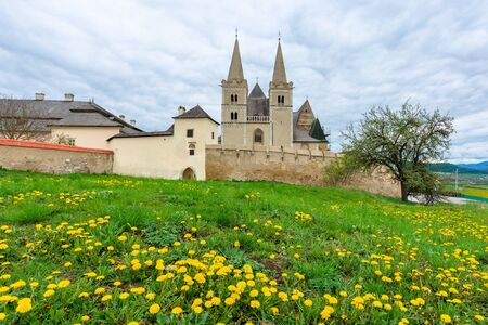 st. martin's cathedral in spring. One of the largest Romanesque and Gothic styles architecture monuments build between 13 and 15 century in eastern slovakia