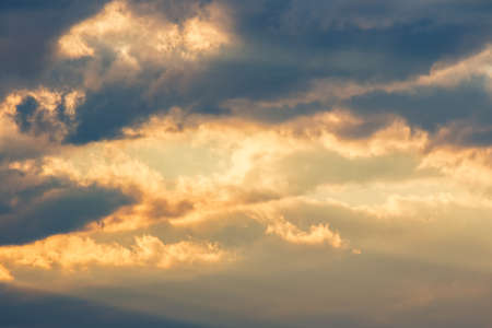 dramatic sky at sunset. beautiful cloud formations in evening light