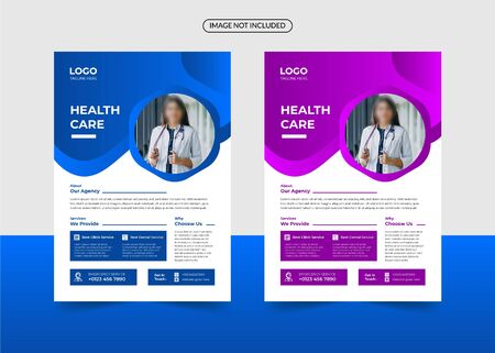 Corporate healthcare and medical a4 flyer design template