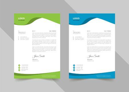 Creative coporate business letterhead Ilustração
