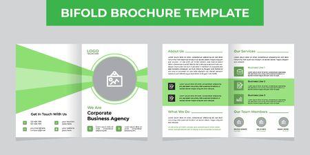Corporate Business Bifold Brochure Template