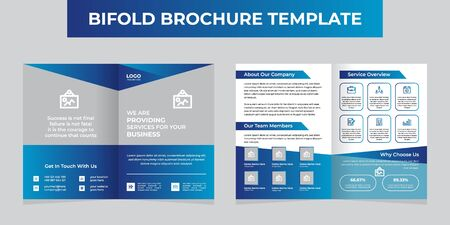 Creative Blue Bifold Brochure Template