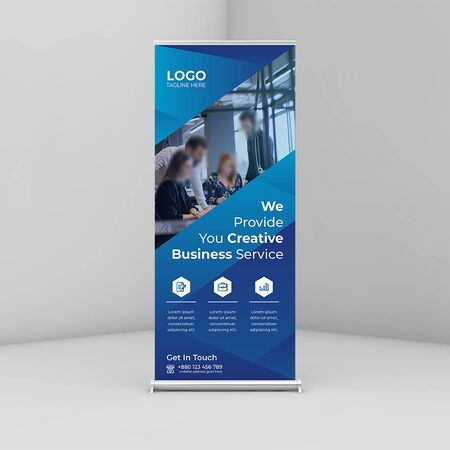 Creative business roll up banner/signage  Template