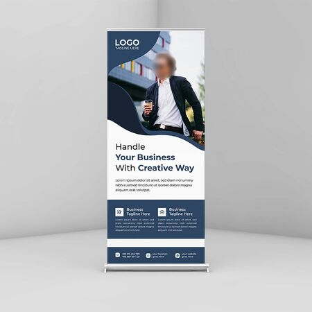 Corporate roll up banner/signage Template Vecteurs