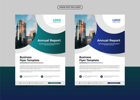 corporate flyer template, business flyer template, annual report business flyer template Vector Illustration