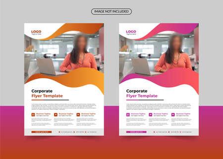 corporate flyer template, business flyer template, annual report business flyer template