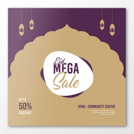 Eid sale banner template, Eid discount banner template Ilustracje wektorowe