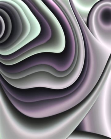 sheen: Abstract fractal layered image in cool tones with satin sheen