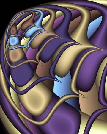 padding: Abstract fractal in the form of a fantasy spaceship Stock Photo