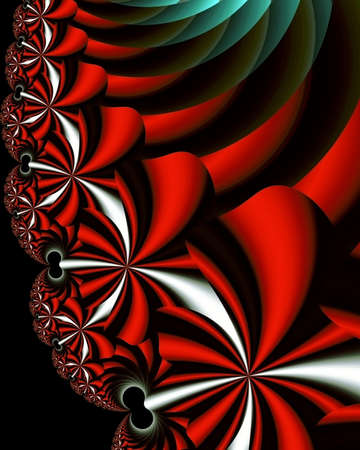 Abstract fractal image of imaginary silk flowers