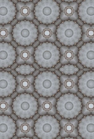puffed: Abstract fractal wallpaper in a puffed, textured, geometric design