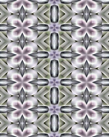 Abstract wallpaper background created from a fractal image resembling flowers on a Trellis