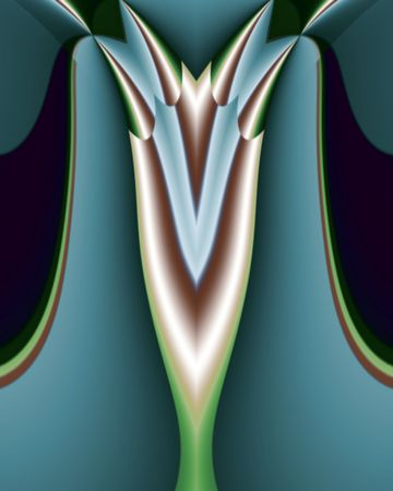 Abstact fractal image resembling a deco light fixture