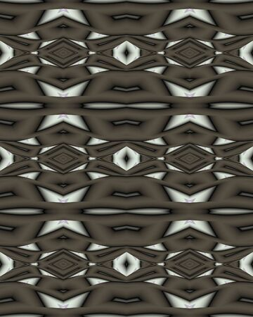 Abstract fractal wallpaper in a bold deco lattice design