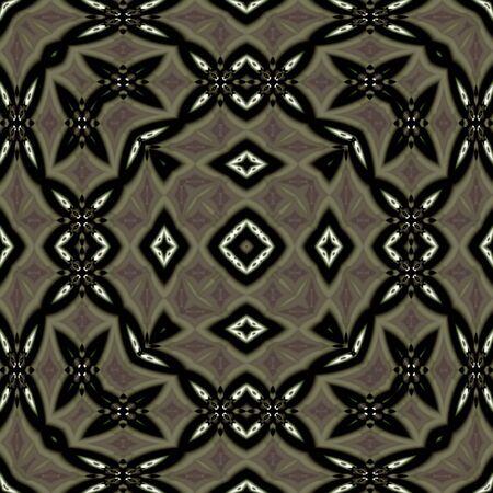 Abstract fractal wallpaper in a burnished sliver lattice design Reklamní fotografie