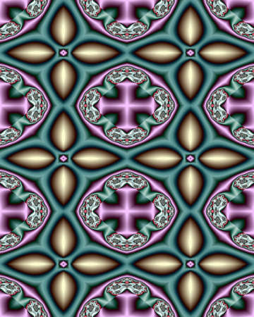 Abstract fractal wallpaper with a varied cross design