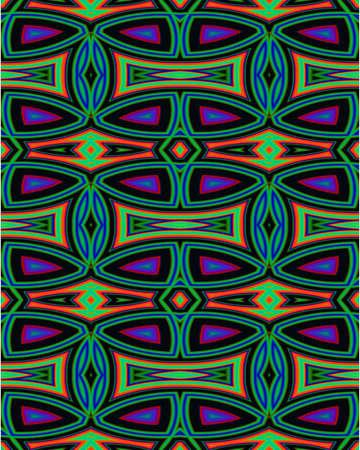 Abstract fractal wallpaper in a Native American inspired designe Reklamní fotografie