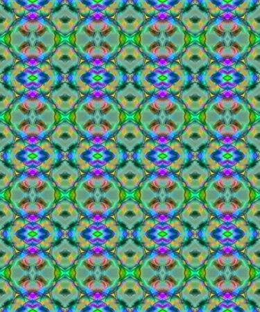 Abstract fractal nouveau inspired wallpaper in jewel tones