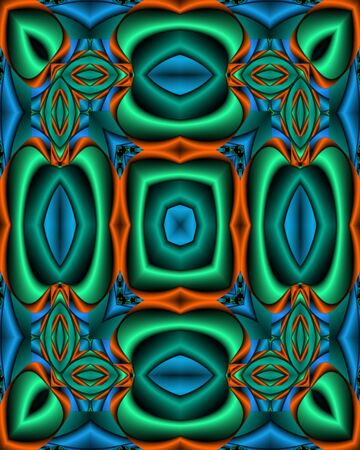 Abstract fractal wallpaper tile in primary colors and silk texture