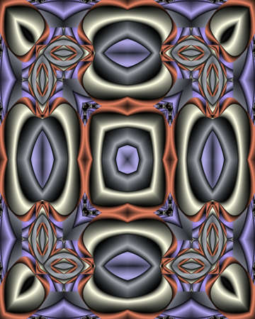 Abstract fractal wallpaper with a silk texture in cool, steely colors photo