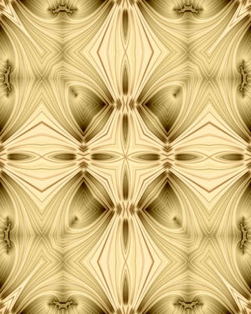 abstract fractal image of a golden filigree cross