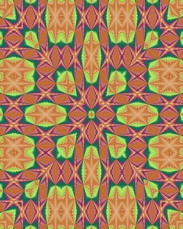 Abstract fractal wallpaper with multiple stars in burnt orange Stock fotó