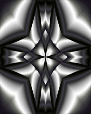 structural steel: Abstract fractal image resembling a structural steel cross