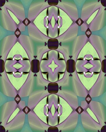 Abstract fractal image of a shiny cross structure