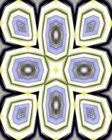 Abstract fractal image in a simple Maltese cross design Reklamní fotografie