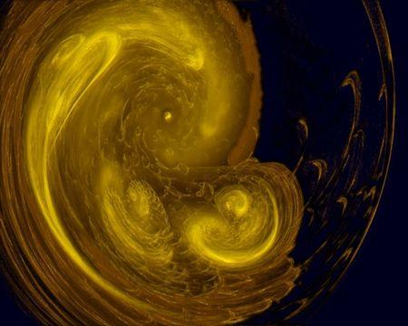 Abstract fractal image resembling an embryo