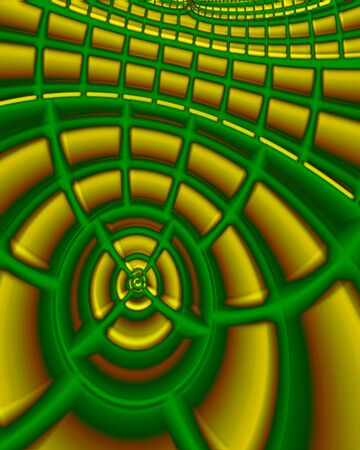 Abstract fractal image resembling an empty auditorium or stadium Reklamní fotografie