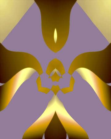 Abstract fractal deco inspired image
