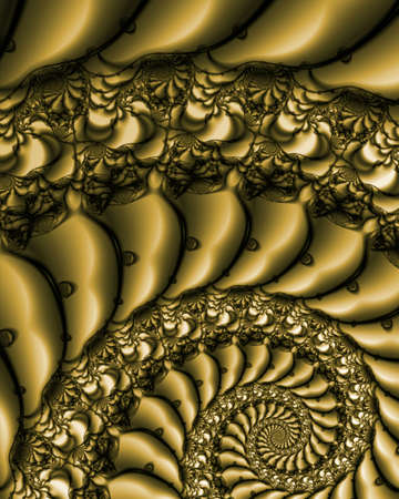 Abstract fractal image resembling antique lace embroidery on silk