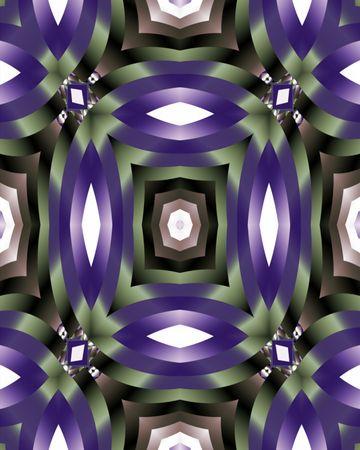 Abstract fractal tile resembling satin ribbons Banco de Imagens