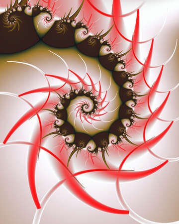 Abstract fractal image resembling a swirl of chocolate bonbons