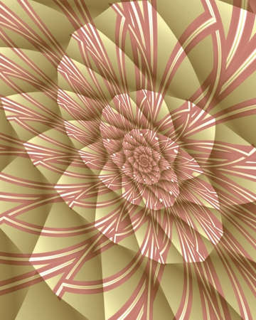 Abstract fractal image resembling a rose