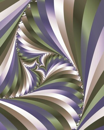 Abstract fractal image of swirling stripes