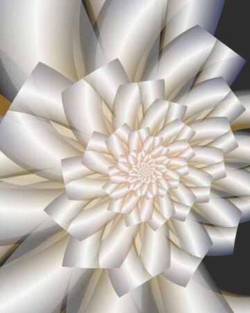 Abstract fractal image resembling a satin wedding bouquet Banco de Imagens