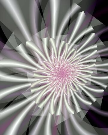 Abstract fractal image resembling a shasta daisy Stock Photo