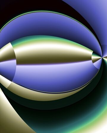 Abstract fractal image resembling bullet or spaceship traveling at a high rate of speed