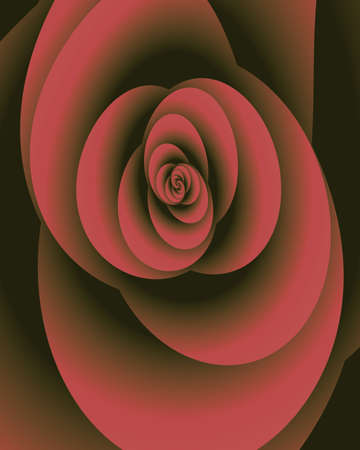 Abstract fractal image resembling and antique silk rose