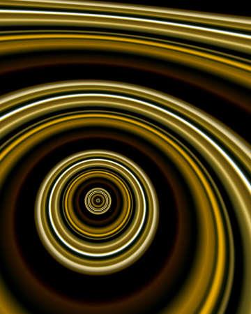 Abstract fractal image resembling pooled metallic silks