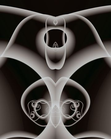 picasso: Abstract fractal resembling Chicagos Picasso, nicknamed The Hawk Stock Photo