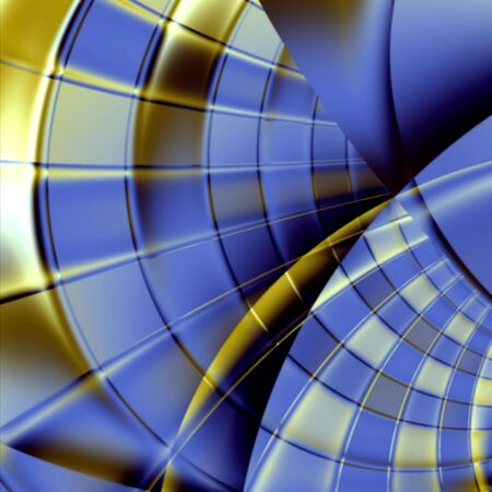 Abstract fractal image image implying a futuristic corridor