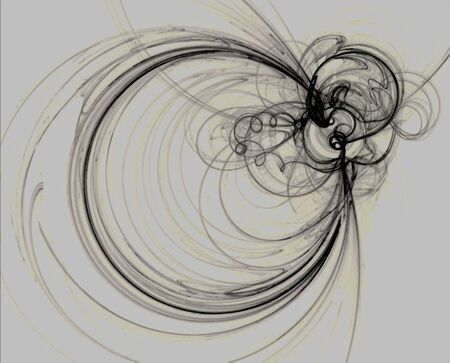Abstract fractal flame resembling a busy bee Reklamní fotografie