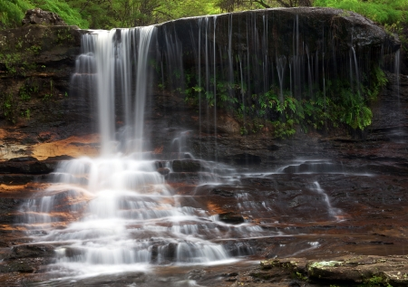 Wentworth Falls in the Blue mountains Stock Photo